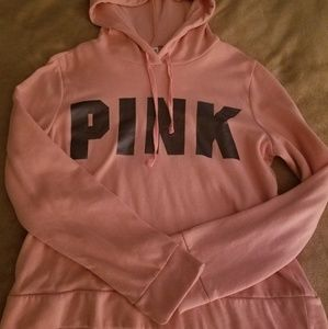 NWOT Victoria secret pink cropped sweatshirt